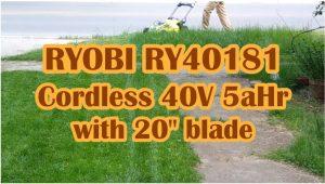 Ryobi RY40181 Cordless 40v 5 aHr 20 inch blade