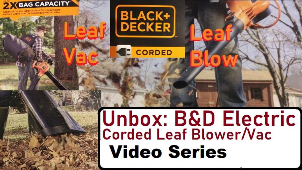 Yard Waste Management With Electric Leaf Blower-Vacuum Mulcher