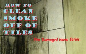 ho to clean smoke stained tile