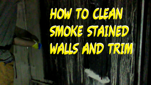 cleaning soot stained walls in fie restoration
